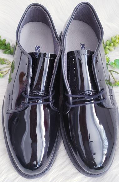 Bates 932-B Mens Lites Black Leather Uniform Oxford Shoe FAST FREE USA SHIPPING